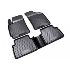 Коврики 3D в салон VW Touareg II 2010-2015, 2015->, 2-х зонный климат-контроль, 4 шт. (полиуретан)