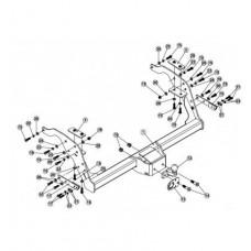Фаркоп Westfalia для Ford Ranger 2012-, Mazda BT арт. 307443600001